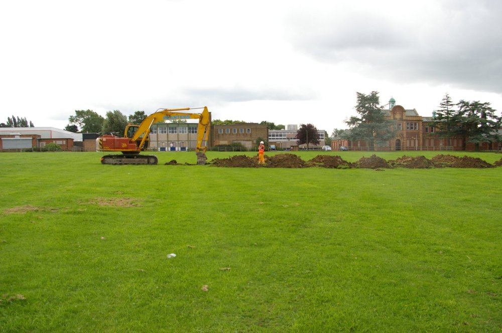 Looking for archaeology at King Edward VII School, Melton Mowbray.