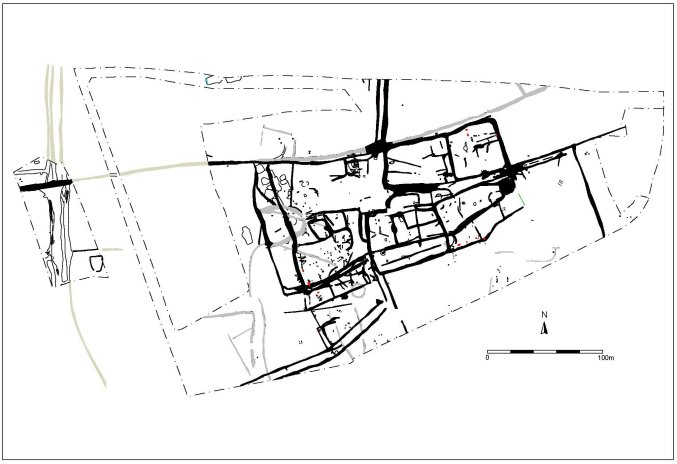 Plan of the Roman settlement.