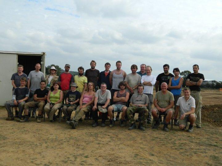The excavation team.