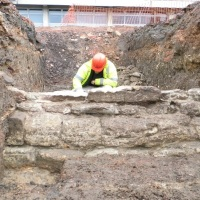 Fifteenth century religious precinct wall discovered in Leicester