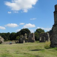 Exploring the ponds of Grace Dieu Priory, Leicestershire