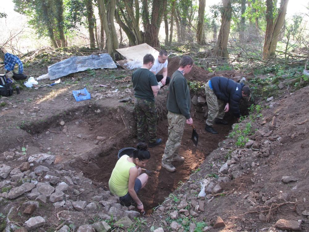 6 Op Nightingale excavation Caerwent Training Area 2012  (c) Simon James IMG_3959