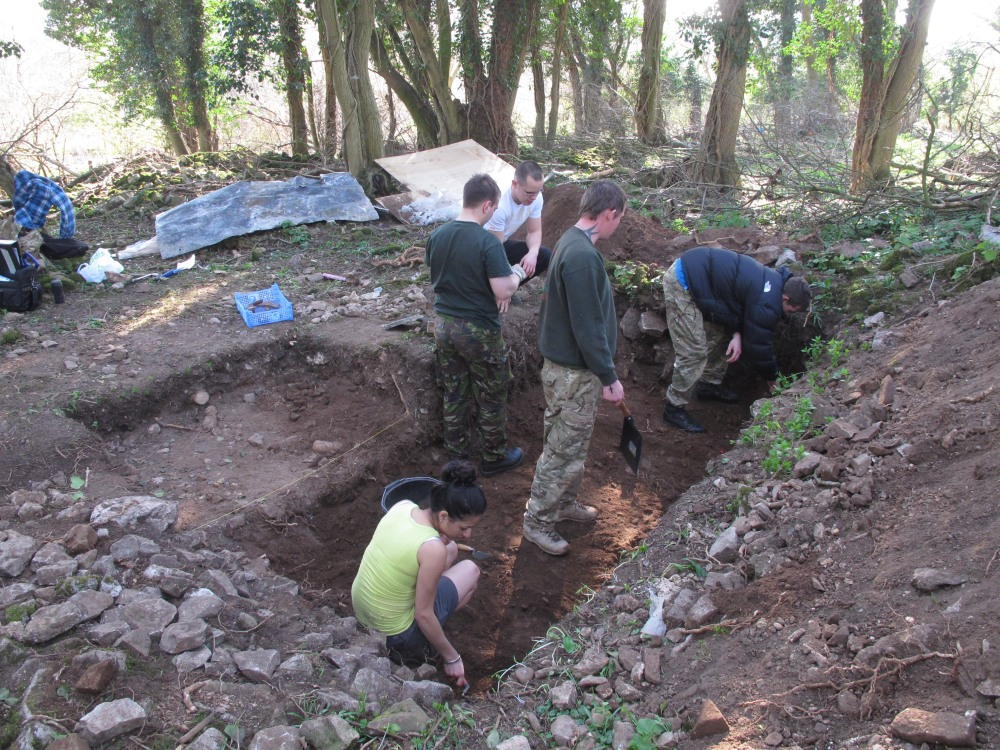 6 Op Nightingale excavation Caerwent Training Area 2012  (c) Simon James IMG_3959