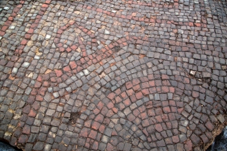 The mosaic pavement. Credit: Carl Vivian/ University of Leicester