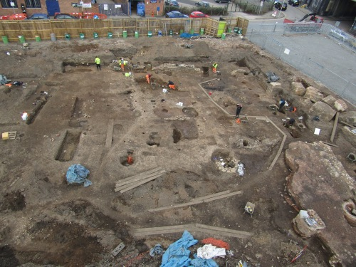 A view north across the All Saints excavation.
