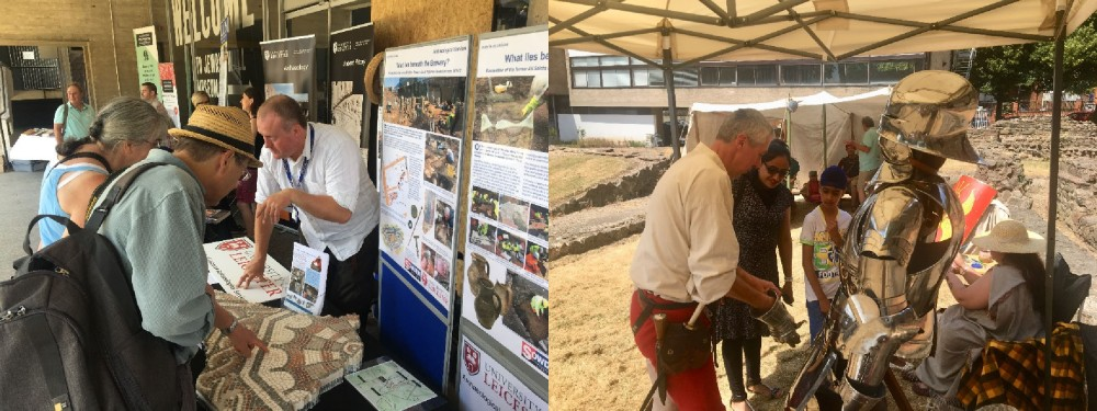 ULAS staff talk to visitors to Bringing Our Past To Life about recent archaeological discoveries.